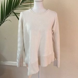 Athleta m ribbed thick Knit asymmetrical sweater
